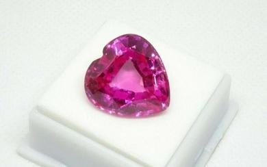 30.2ct. Raspberry Pink Topaz Heart Shaped Gemstone