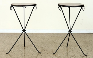 PAIR COCKTAIL TABLES MANNER OF JEAN-MICHEL FRANK