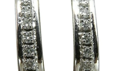 .60 Carat Diamonds Semi Hoop Earrings 14 Karat
