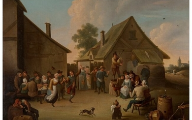 61009: Manner of David Teniers the Younger Villagers da