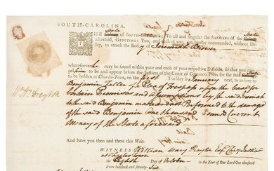 Revolutionary War-Era Arrest Warrant Signed by William