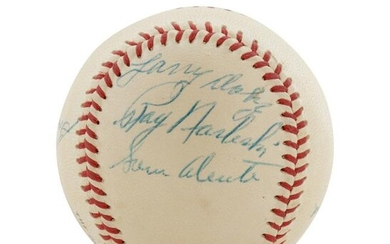 A 1954 Cleveland Indians Partial Team Signed Baseball