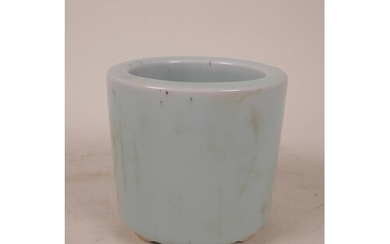 A Chinese Ru style duck egg blue glazed porcelain planter, s...