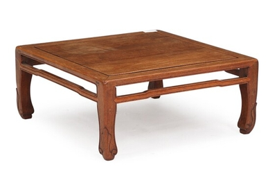 NOT SOLD. A Chinese square hardwood Low Table. Last half of the 20th century. H....