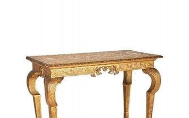 A George I carved and gilt-gesso centre table, circa 1720