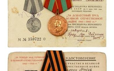 A LOT OF TWO RUSSIAN SOVIET MEDALS