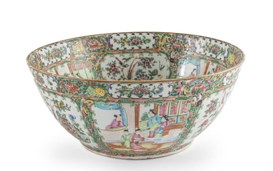 A Large Chinese Famile Rose Porcelain Bowl