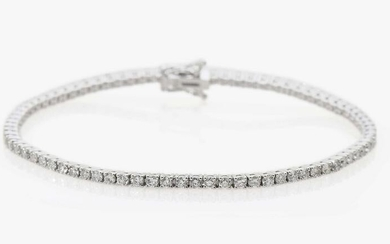A Rivière brilliant cut diamond bracelet