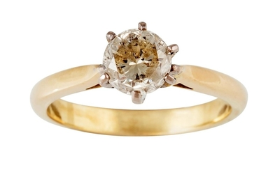 A SOLITAIRE DIAMOND RING, of approx. 1.03ct, SI3, size N/O