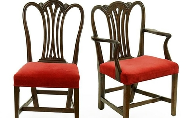 A Set of Eight Hepplewhite Mahogany Dining Chairs.
