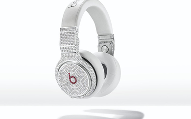 A UNIQUE PAIR OF DIAMOND AND RUBY 'BEATS PRO' HEADPHONES, GRAFF,