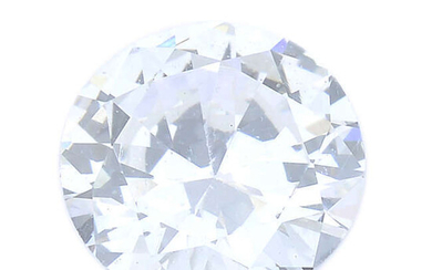 A brilliant-cut diamond, weighing 0.40ct, with report, within a security seal.