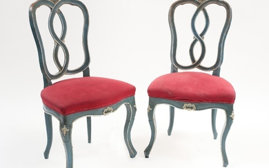 A couple of laquered chairs