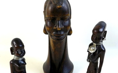 A early of likely mid 20th century African sculptures, compr...