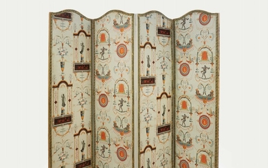 A folding screen with arabesque decor