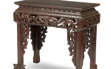 A lacquered soft-wood archaistic-style altar table