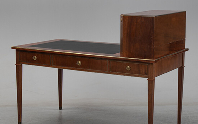 A late gustavian style writing desk, first half of the 20th century.