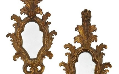 A pair of Italian giltwood and gesso...