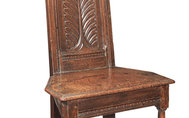 A rare Charles I joined oak child's chair, West Country, probably Gloucestershire, circa 1640