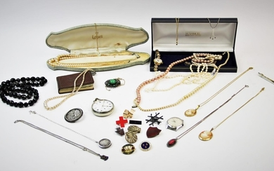 A selection of early 20th century and later jewellery, to in...