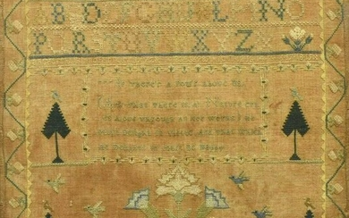AMERICAN MARY WALLACE 1802 NEEDLEPOINT SAMPLER