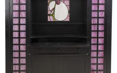 AN ITALIAN ARTS AND CRAFTS CREDENZA BY CHARLES RENNIE MACKINTOSH, MANUFACTURED BY CASINA, 20TH CENTURY