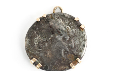 ANCIENT GREEK COIN IN GOLD SETTING