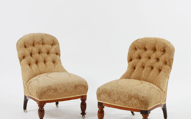 ARMCHAIRS, a pair, Emma model, late 19th century.