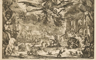 After Jacques Callot, French 1592-1635- The Temptation of St. Anthony;...
