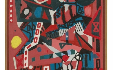 American School, mid 20th century- Untitled abstract;...