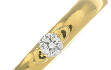 An 18ct gold brilliant-cut diamond single-stone heart ring, by Piaget.