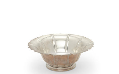 An American sterling silver footed bowl