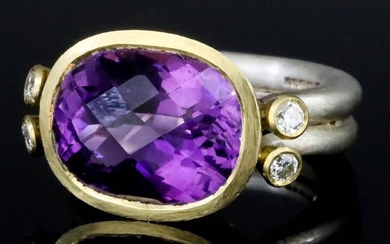 An Amethyst and Diamond Ring, Modern, by Mark Nuell,...