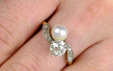 An early 20th century 18ct gold and silver diamond and