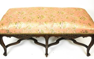 Antique French Country Provencal Style Bench