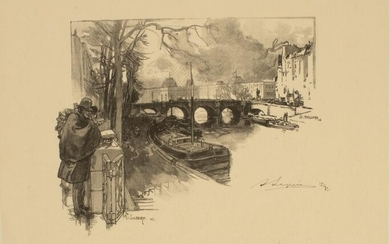Auguste Louis Lepere 1849-1918 LE SIGNED Etching