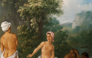 Augustin Brunias (1730-1796), Free women of Dominica bathing in a stream