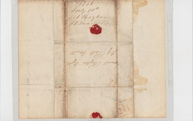 Autograph. Signed letter, dated July 10, 1850, relating to insurance policy on the life of Benjamin Disraeli