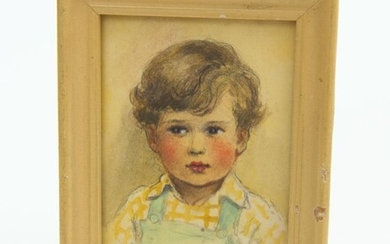 BETTY PATERSON, CHILD PORTRAIT, PASTEL, SIGNED, 10 X 8CM, LEONARD JOEL LOCAL DELIVERY SIZE: SMALL