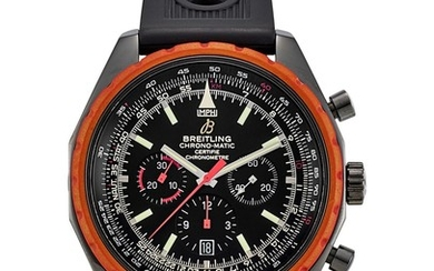 BREITLING | CHRONO-MATIC, REFERENCE M14360, A LIMITED EDITION DLC COATED STAINLESS STEEL CHRONOGRAPH WRISTWATCH WITH DATE, CIRCA 2009