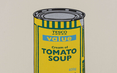Banksy (b.1974) Soup Can (Yellow/Emerald/Sky Blue)