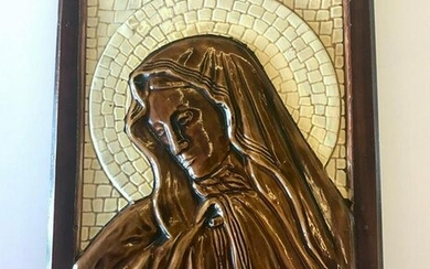 Beautiful Plaster icon depicting Mary the mother of