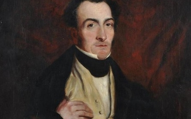 British School (19th century), Portrait of a seated gentleman