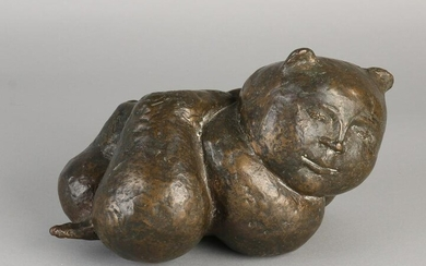 Bronze Botero-like cat. Not signed. Second half of the
