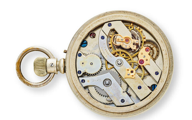 CHARLES FASOLDT. A RARE WATCH MOVEMENT WITH CO-AXIAL DOUBLE WHEEL ESCAPEMENT