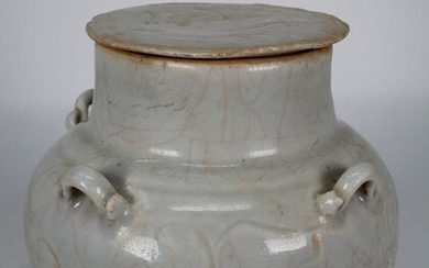 Chinese Qingbai Glazed Covered Jar, Song Dyn