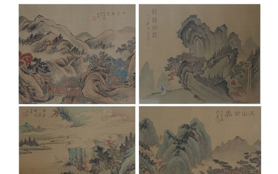 Chinese Silk Scroll Paintings
