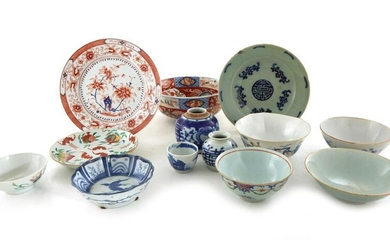 Chinese porcelain bowls, plates and vessels (13pcs)