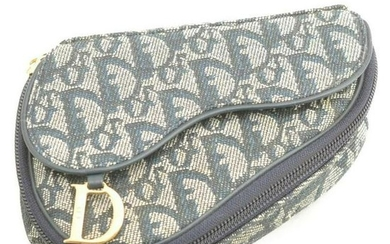 Christian Dior Trotter Canvas Saddle Pouch