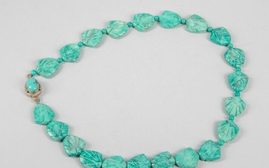 Collectible Chunk Shell-shaped Turquoise Like Stone